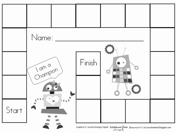 Game Templates for Teachers Awesome Free Printable Blank Board Games Education