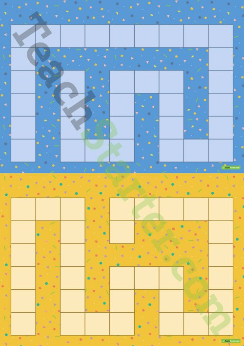 Game Templates for Teachers Beautiful 4 Blank Game Boards Colourful Patterns Teaching Resource