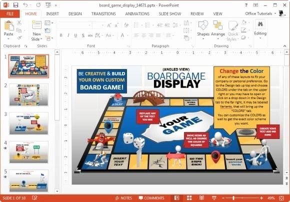 Game Templates for Teachers Fresh Board Game Display Template for Powerpoint
