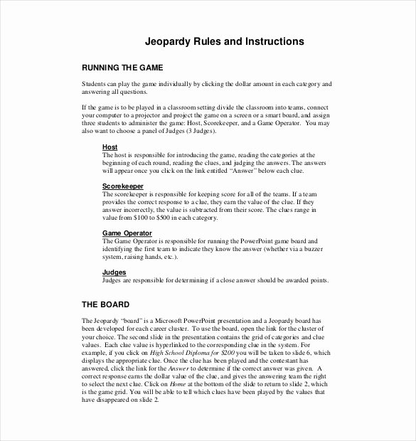 Game Templates for Teachers Unique Jeopardy Template for Teachers 10 Free Word Pdf Ppt