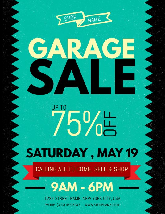 Garage Sale Flyer Template Awesome Copy Of Garage Sale Flyer