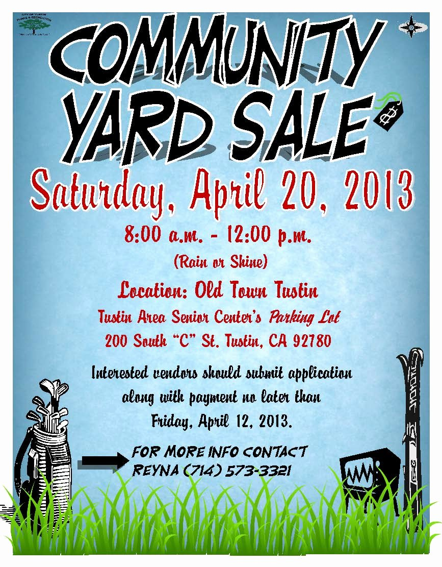 Garage Sale Flyer Template Awesome Tustin Residents Action Mittee