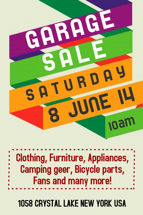 Garage Sale Flyer Template Beautiful Garage Sale Flyer Templates