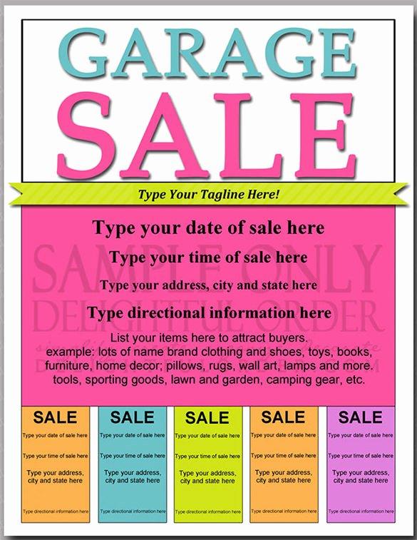 Garage Sale Flyer Template Elegant 21 Best Yard Sale Flyer Templates & Psd Word Eps