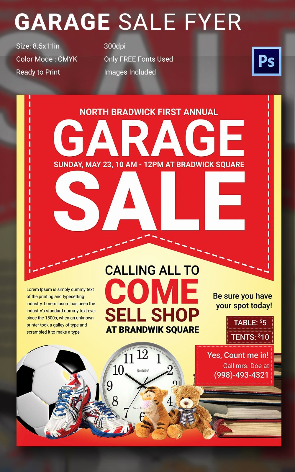 Garage Sale Flyer Template Inspirational 14 Best Yard Sale Flyer Templates & Psd Designs