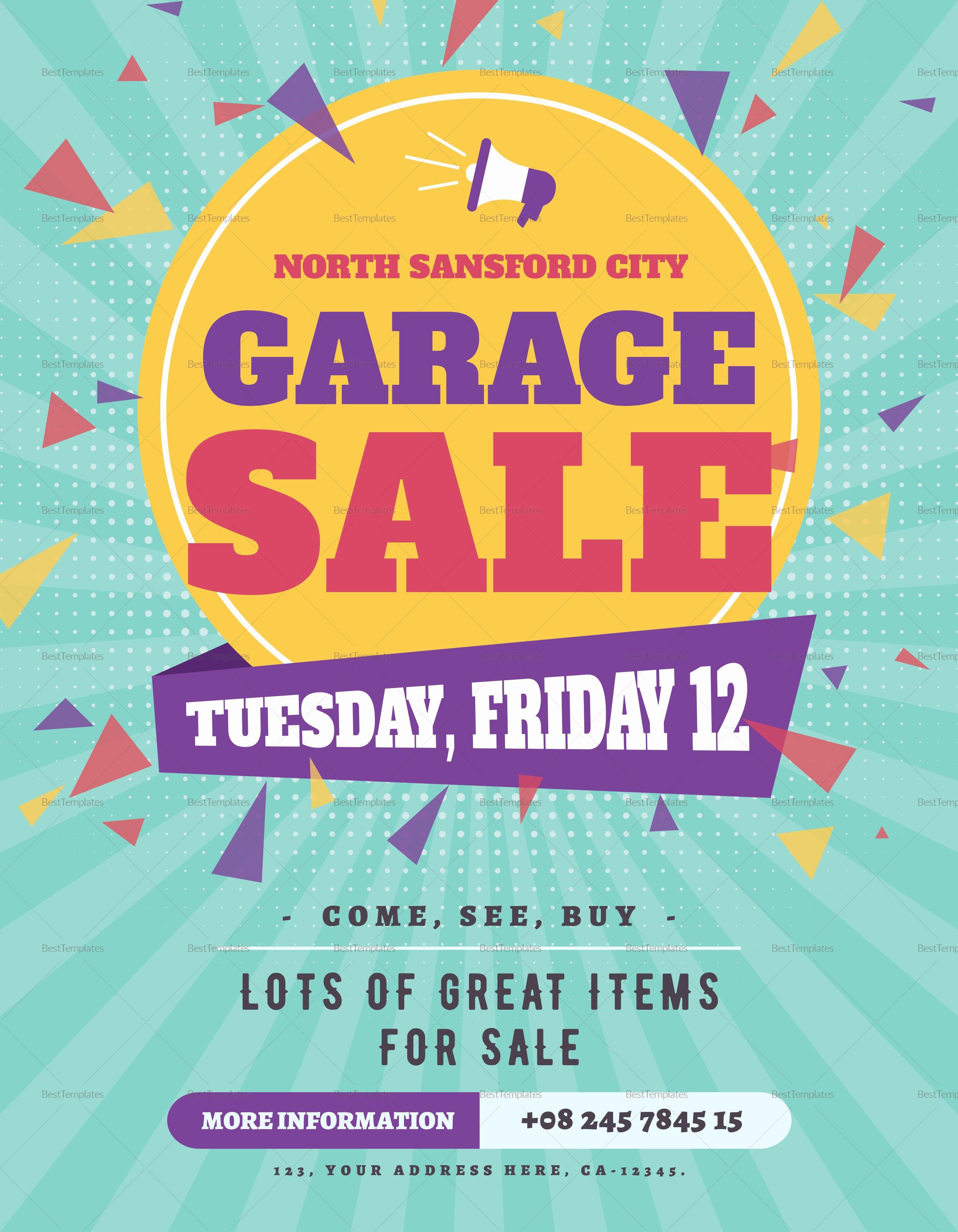 large garage sale flyer