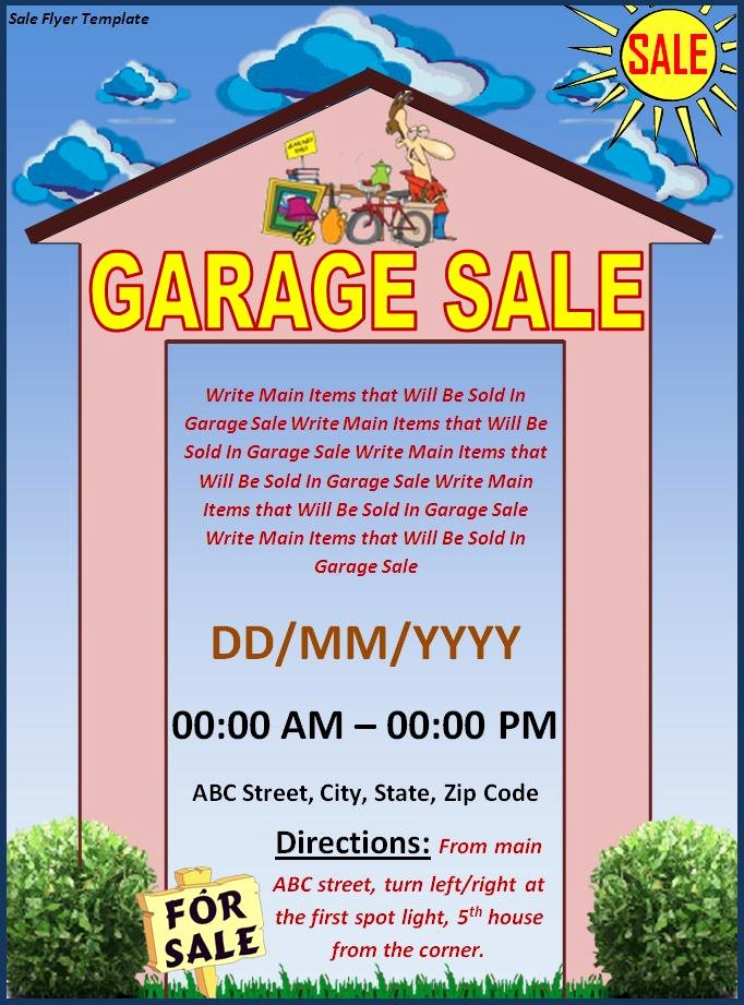 Garage Sale Flyer Template Luxury Sales Flyer Template