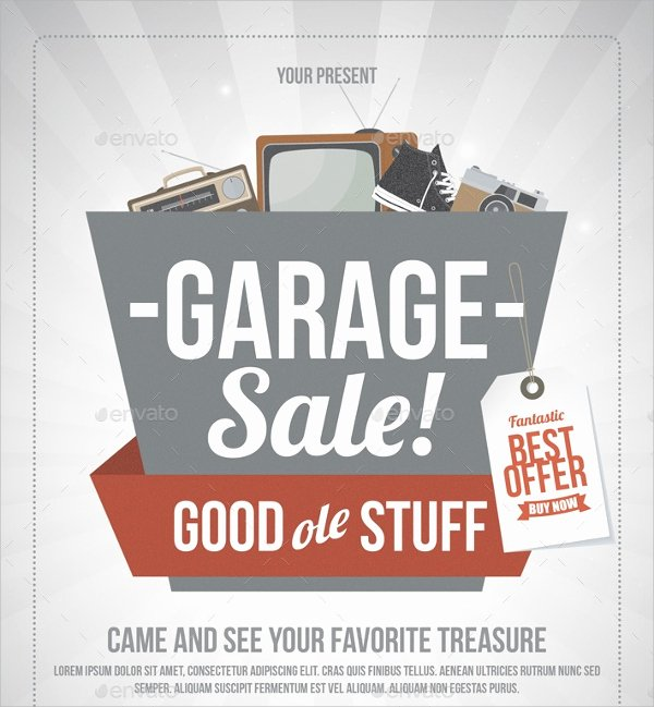 Garage Sale Flyer Template New 27 Yard Sale Flyer Templates Psd Eps format Download