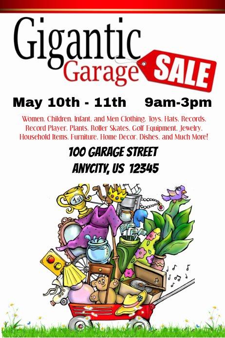 Garage Sale Flyer Template New Gigantic Garage Sale Template