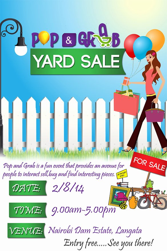 Garage Sale Flyer Template Unique 21 Best Yard Sale Flyer Templates & Psd Word Eps