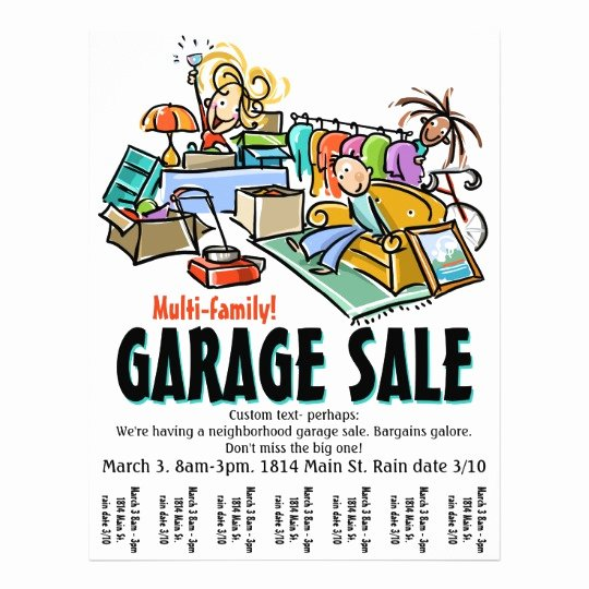 Garage Sale Flyer Template Unique Garage Sale Moving Sale Yard Sale Custom Flyer