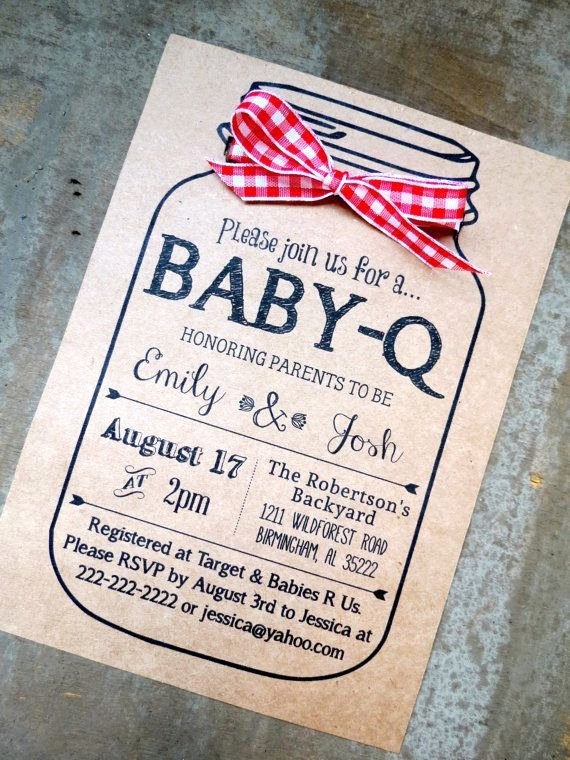 Gender Reveal Bbq Invitations Awesome Baby Q Invitation Coed Bbq Baby Brewing Boy Blue