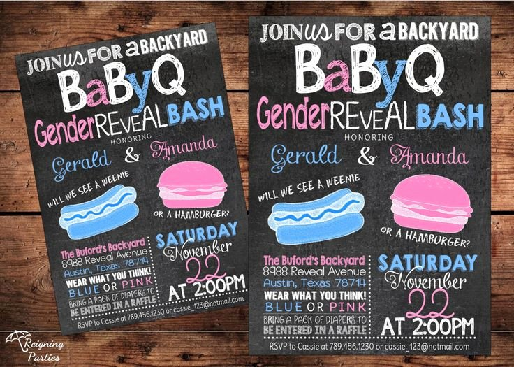 Gender Reveal Bbq Invitations Awesome Bbq Gender Reveal Invitation