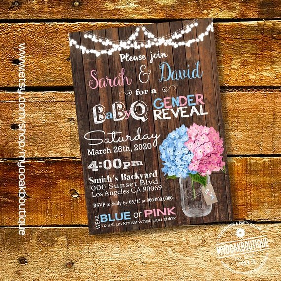 Gender Reveal Bbq Invitations Beautiful Bbq Gender Reveal Invitation Baby Q Gender Reveal Invite