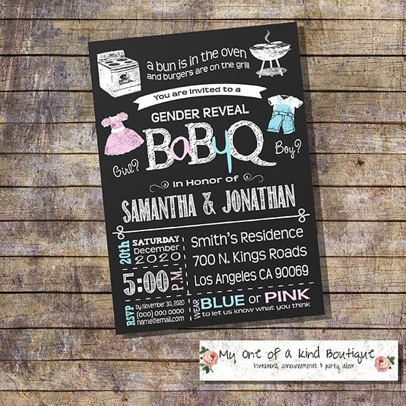 Gender Reveal Bbq Invitations Best Of Bbq Gender Reveal Invitation Baby Q Gender Reveal Pink Blue