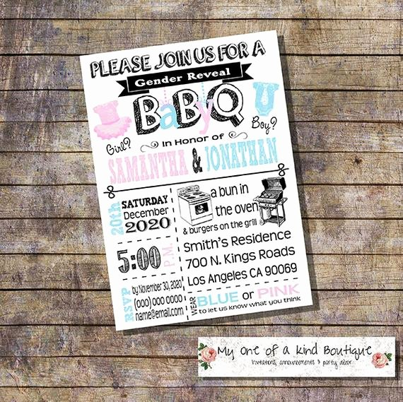 Gender Reveal Bbq Invitations Best Of Gender Reveal Invitation Baby Q Gender Reveal Bbq Couples