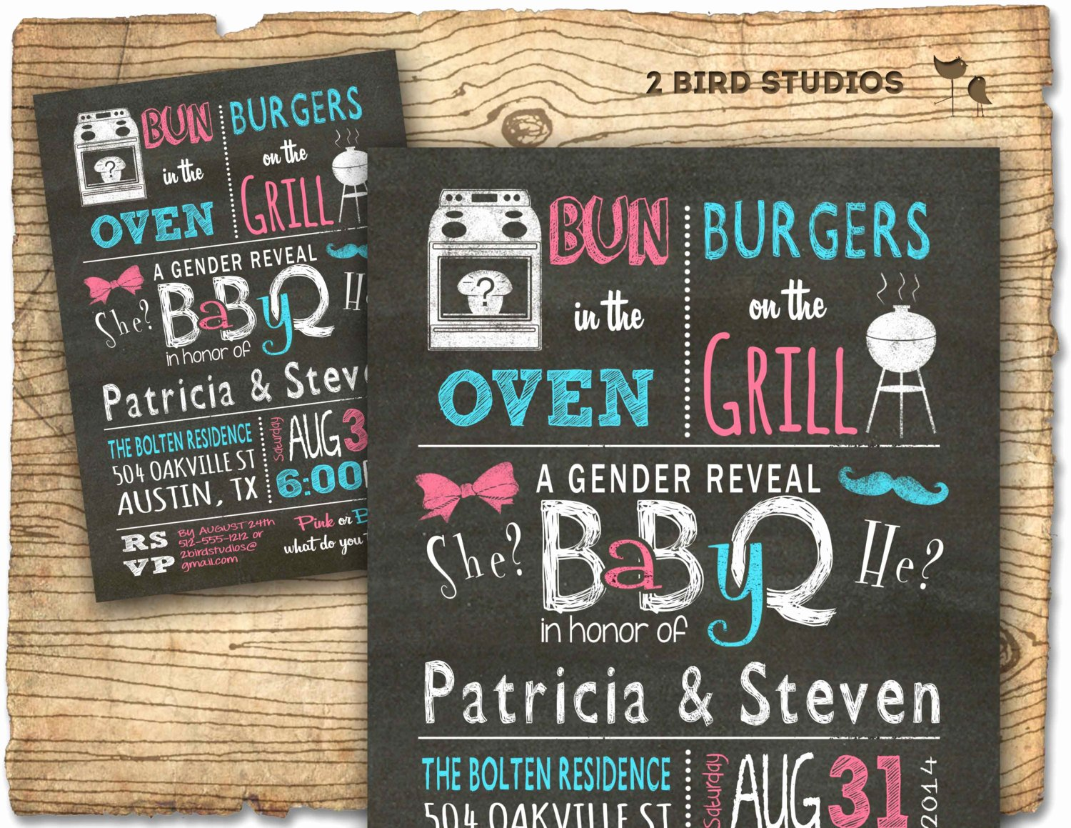 Gender Reveal Bbq Invitations Elegant Gender Reveal Invitation Chalkboard Baby Q Barbecue Baby