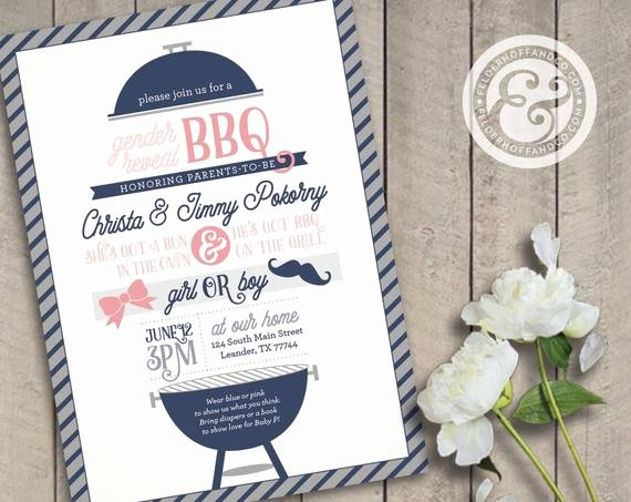 Gender Reveal Bbq Invitations Fresh Printable Gender Reveal Bbq Invitation