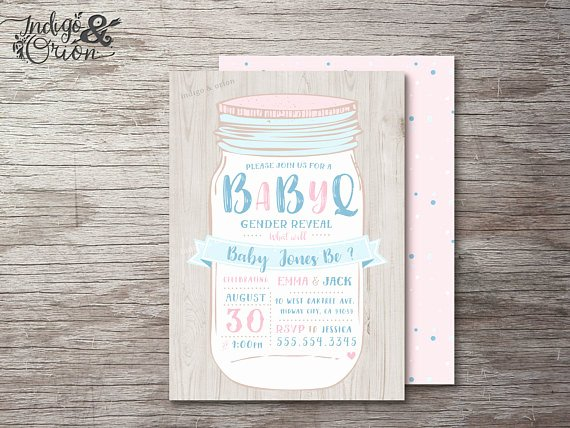 Gender Reveal Bbq Invitations Lovely Bbq Gender Reveal Invitation Gender Reveal Party Invitations