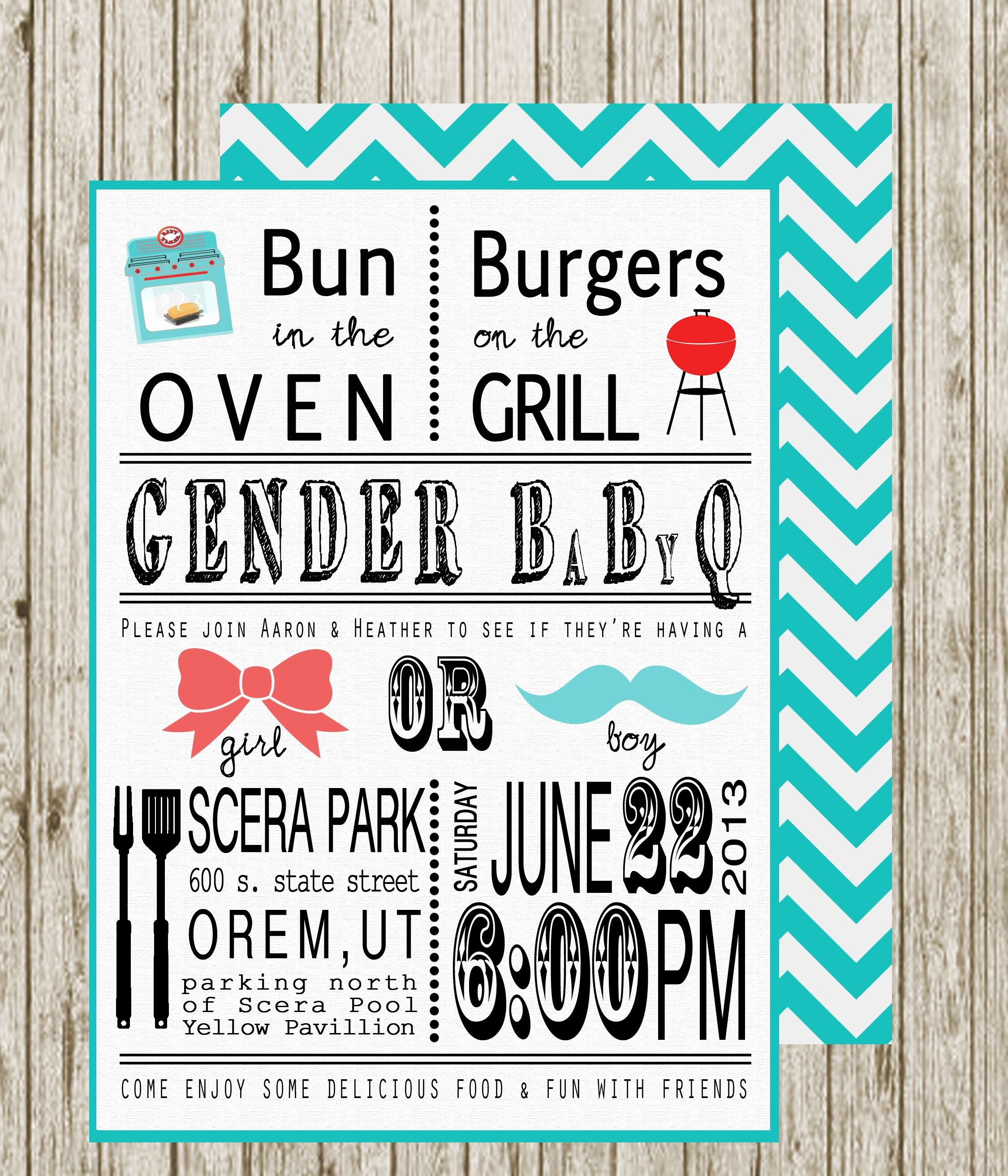 Gender Reveal Bbq Invitations Lovely Gender Reveal Invite Omg I Must Have these for My Gender
