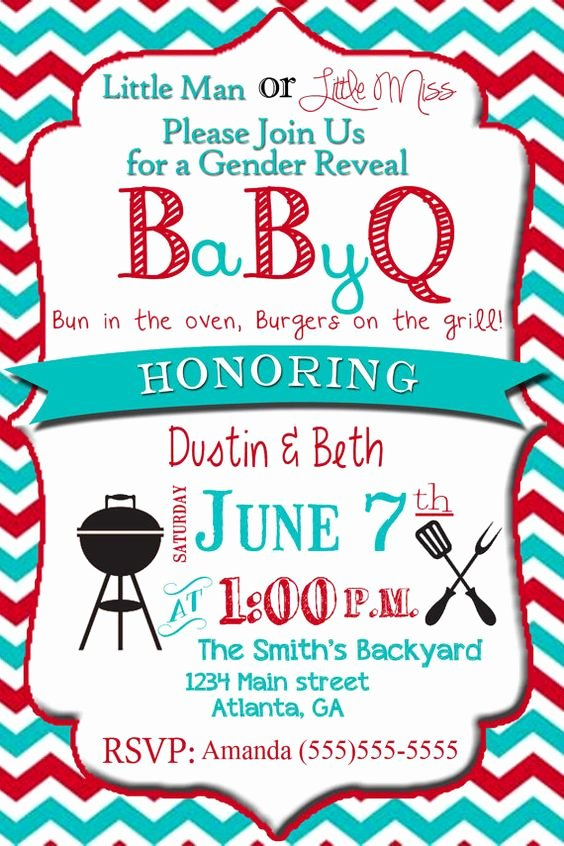 Gender Reveal Bbq Invitations Lovely Reveal Parties Baby Gender and Baby Ideas On Pinterest
