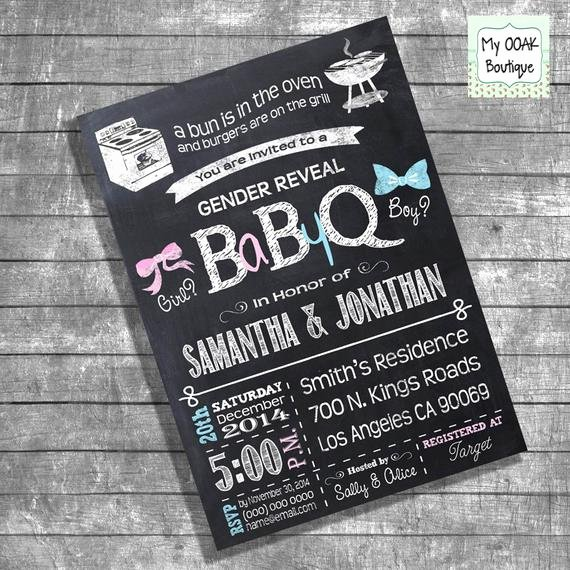 Gender Reveal Bbq Invitations Luxury Bbq Gender Reveal Invitation Baby Q Gender Reveal Couples
