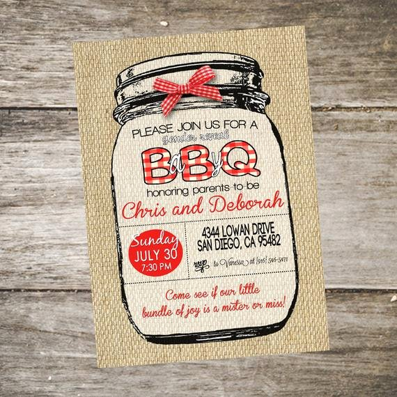 Gender Reveal Bbq Invitations Luxury Rustic Baby Q Gender Reveal Invitation Boy or Girl Gender