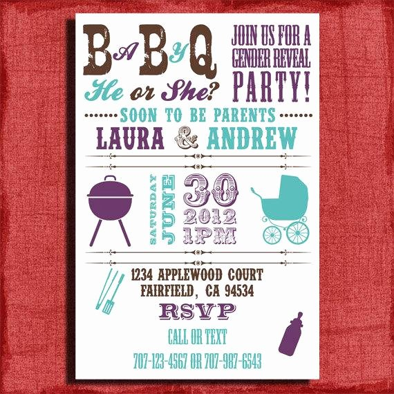 Gender Reveal Bbq Invitations New Printable Baby Q Gender Reveal Baby Shower Bbq by