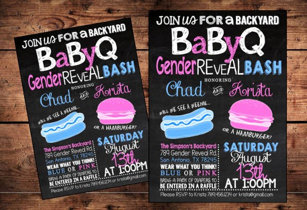 Gender Reveal Bbq Invitations Unique 8 Gender Reveal Party Invitations Psd Png Vector Eps