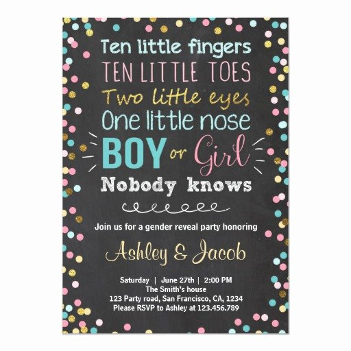 Gender Reveal Invitation Ideas Awesome Baby Gender Reveal Party Invitations and Party Ideas