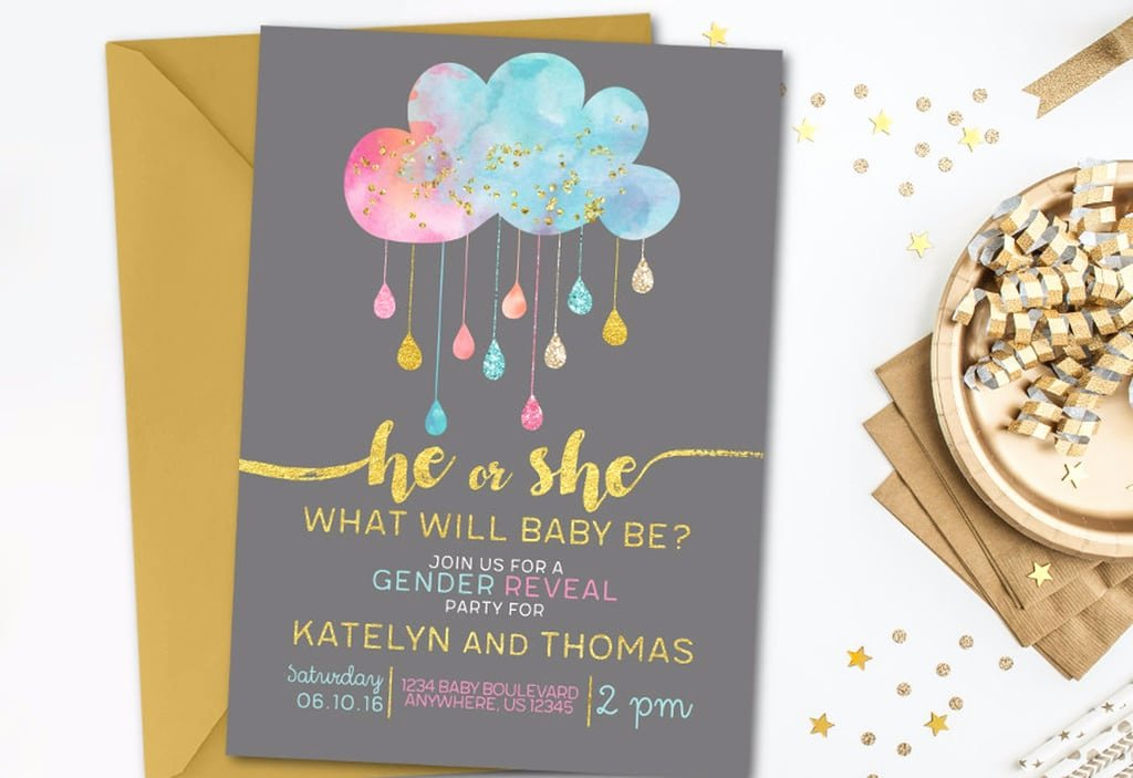 Gender Reveal Invitation Ideas Awesome Gender Reveal Invitations