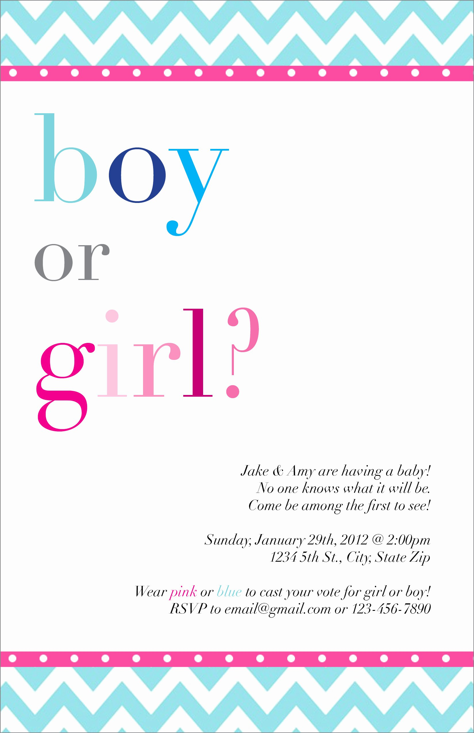 Gender Reveal Invitation Ideas Beautiful Gender Reveal Party