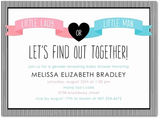 Gender Reveal Invitation Ideas Elegant Gender Reveal Party Invitations