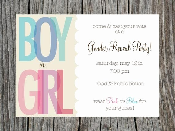 Gender Reveal Invitation Ideas Elegant Items Similar to Gender Reveal Party Invitation Printable