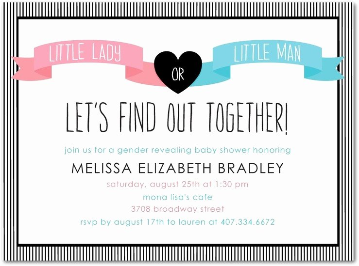 Gender Reveal Invitation Ideas Lovely Baby Shower Gender Reveal Invitation Ideas Party Games