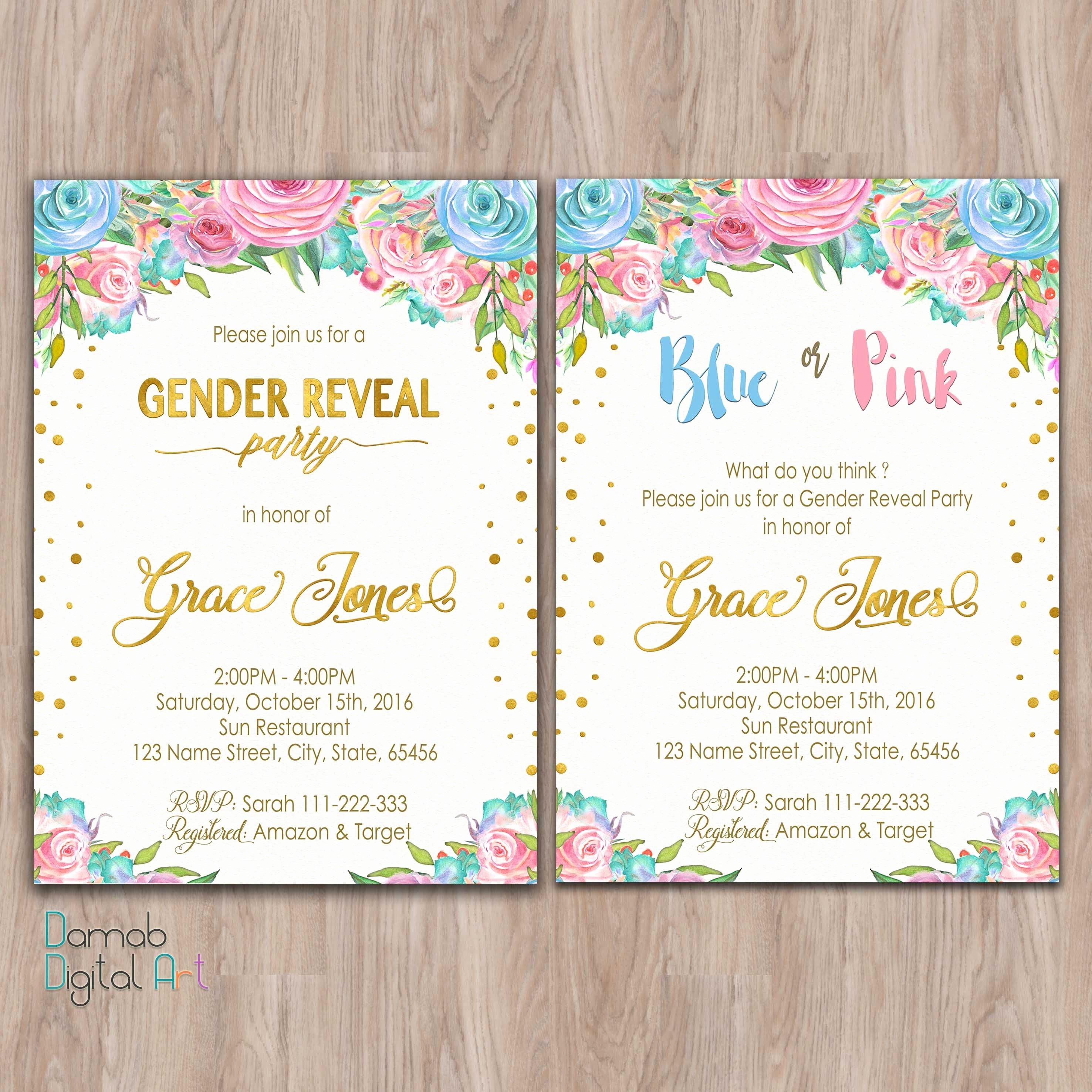 Gender Reveal Invitation Ideas New Gender Reveal Invitation Printable Gender Reveal Invites