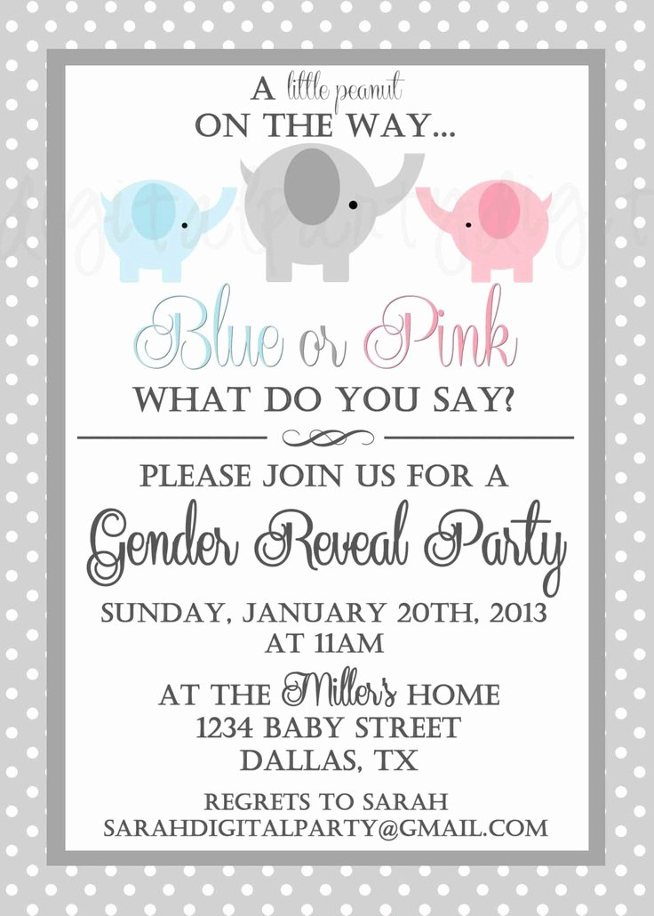 Gender Reveal Party Invitation Ideas Best Of 17 Best Images About Gender Reveal Ideas On Pinterest
