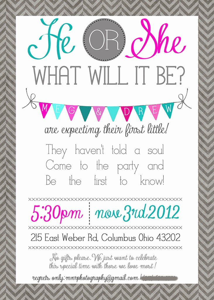 Gender Reveal Party Invitation Ideas Elegant Gender Reveal Invitation Ideas Party Xyz