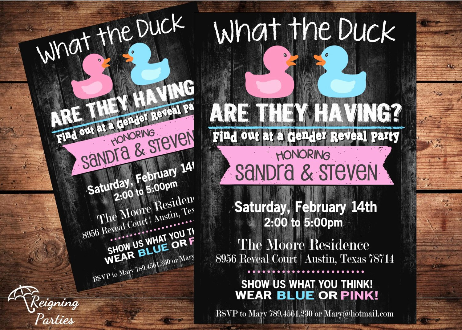 Gender Reveal Party Invitation Ideas Fresh Funny Duck Gender Reveal Invitation Rubber Duck Team Pink