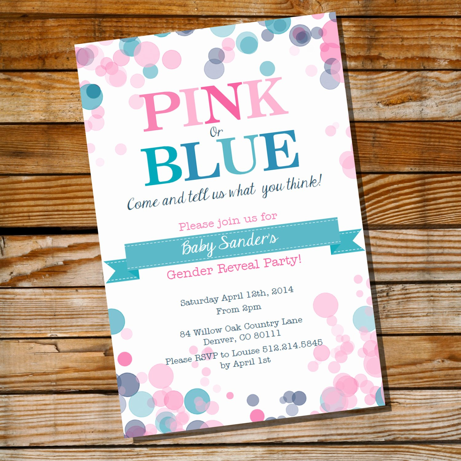Gender Reveal Party Invitation Ideas Inspirational Gender Reveal Party Invitation Pink or Blue Instantly