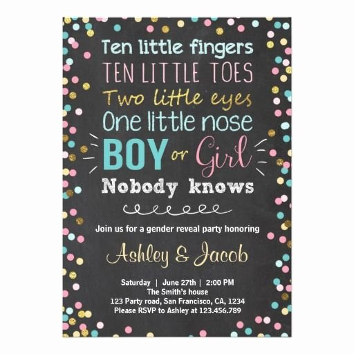 Gender Reveal Party Invitation Ideas New Best 25 Gender Reveal Invitations Ideas On Pinterest