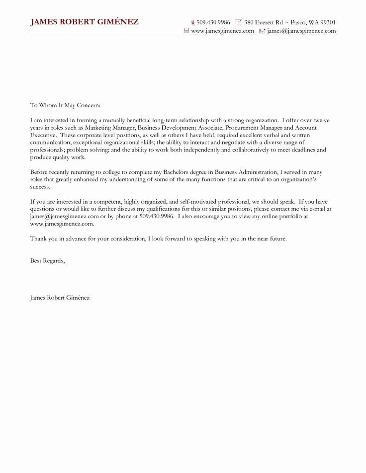 General Cover Letter for Job Unique Cover Letter for General Application Cover Letter