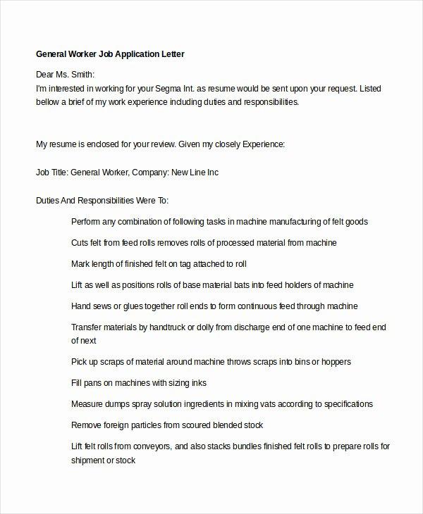 General Job Application form Inspirational Generic Job Application 8 Free Word Pdf Documents