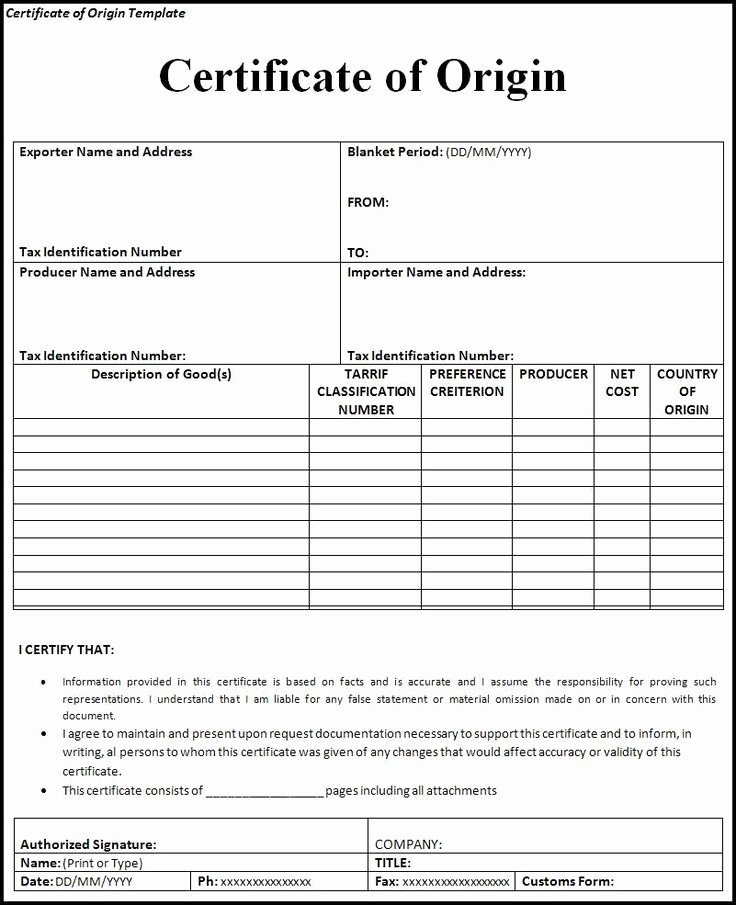 Generic Certificate Of origin Template Unique 7 Best Msds Sheets Images On Pinterest