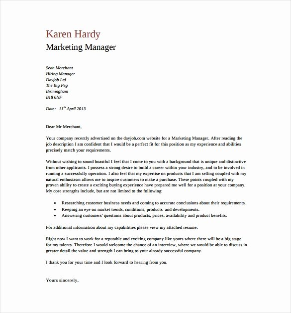 Generic Cover Letter Sample Fresh 15 General Cover Letter Templates Free Sample Example