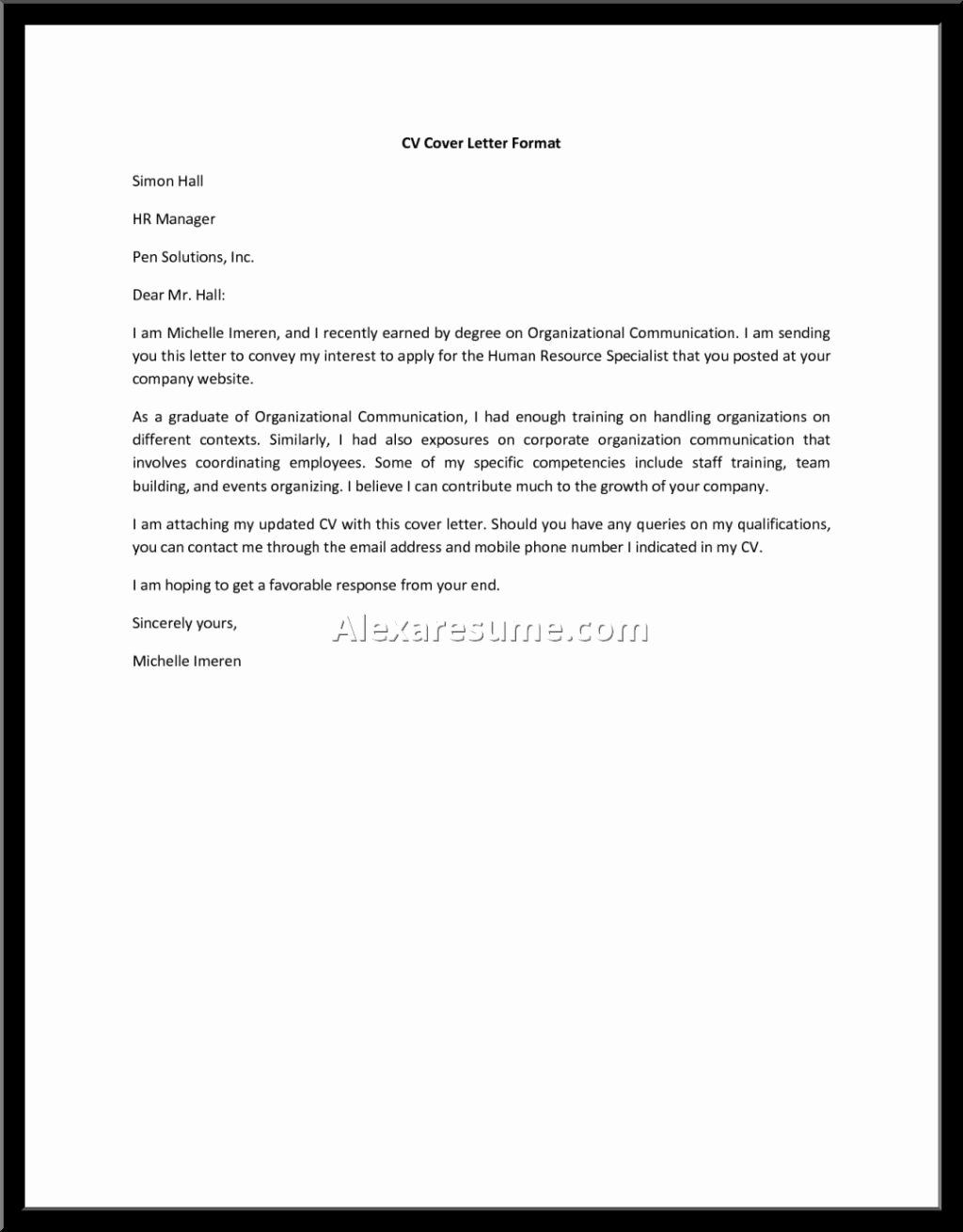 Generic Cover Letter Sample Unique Cover Letter for General Helper — General assistant Cover