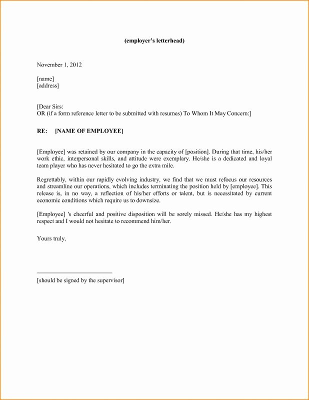 Generic Letter Of Recommendation Template Awesome Personal Reference Letter Template 2018