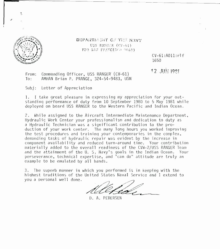 Generic Letter Of Recommendation Template New Military Letter Of Re Mendation Template – Automotoreadfo