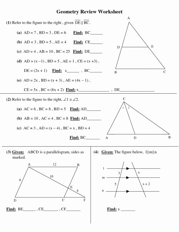 Geometry Worksheets High School Beautiful High School Geometry