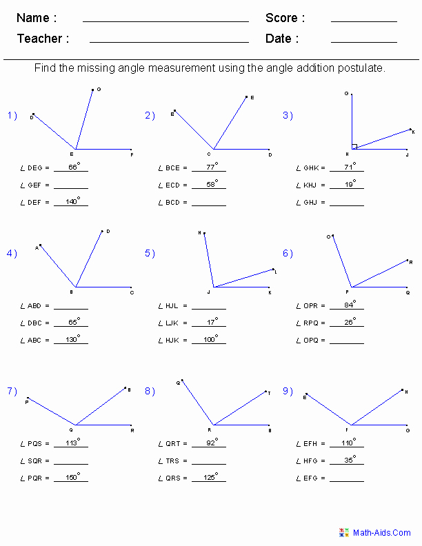 Geometry Worksheets High School New Geometry Worksheets